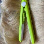 Мини преса за изправяне на коса - зелен